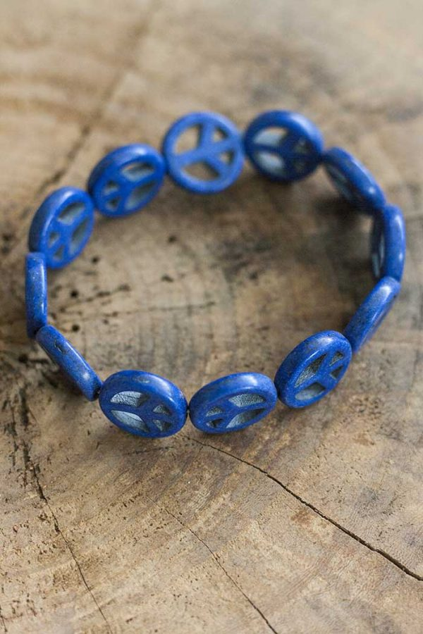 armbandje vredestekens blauw