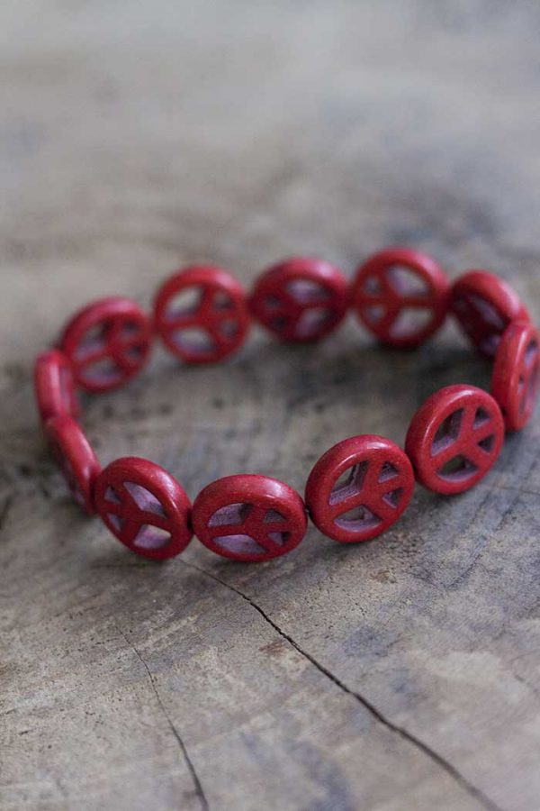 armbandje vredestekens rood