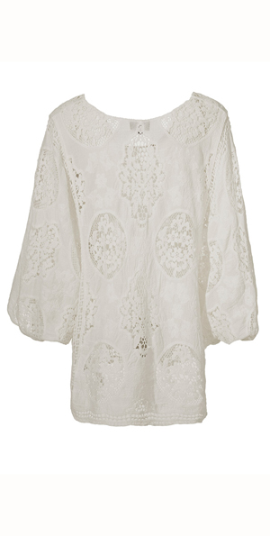Poncho wit embroidery cotton