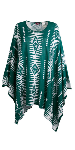 poncho etnic emerald