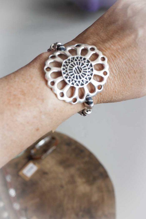 Armband metaal met mandala Rove