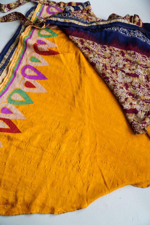 Boho sari gypsy wikkelrok   van