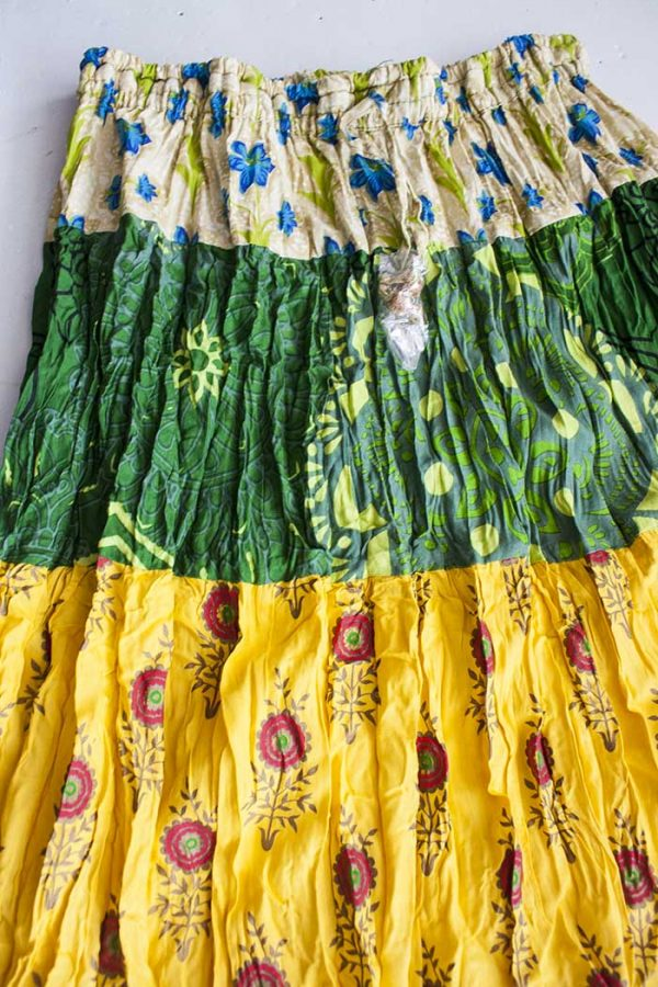Gypsy kleurige strokenrok groen geel rood