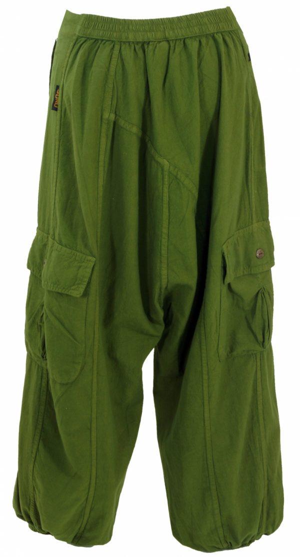 Harembroek groen met knoopjes en zakken