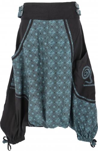 Harembroek zwart blauw met leuke details