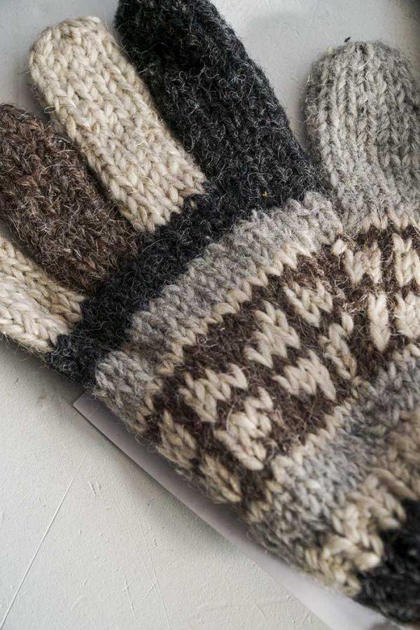 handschoenen wol beige bruin
