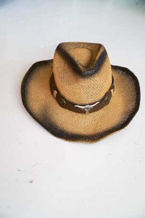 hoed strok longhorn lichtbruin