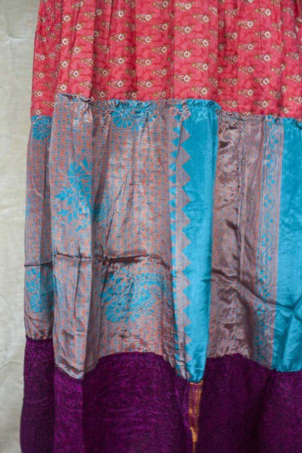 strokenrok  lagen sari koraal paars turqoise