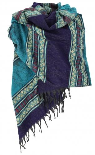 wollen sjaal blauw turqoise