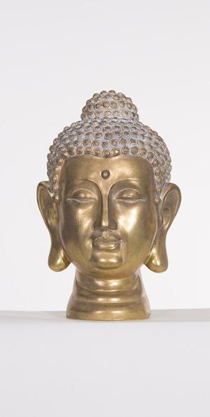Boedha hoofd goud cm